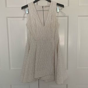 Alive and Olivia beaded white dress
